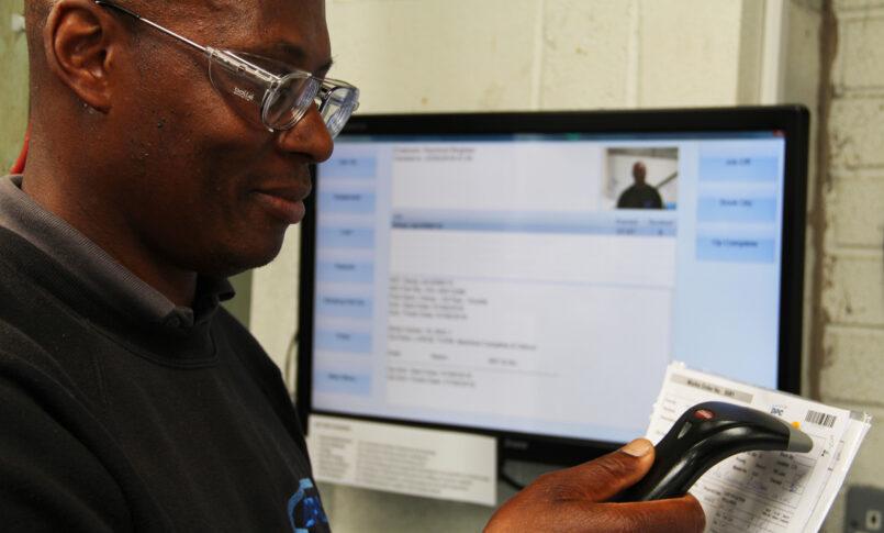 DPC team member scanning sheet